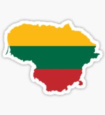 Lithuania Flag Map Sticker