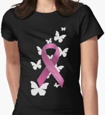 Pink Ribbon Support Breast Cancer Awareness T-Shirt