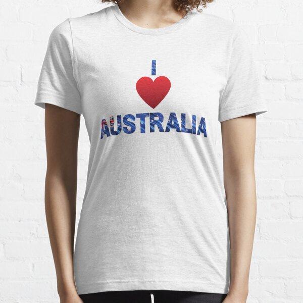 I love Australia with Australian flag Essential T-Shirt