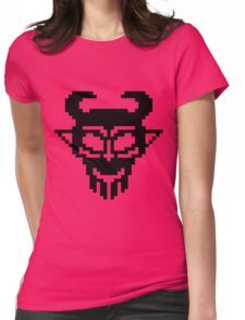 Pixel Devil - Stencil Style - Black Version Womens Fitted T-Shirt