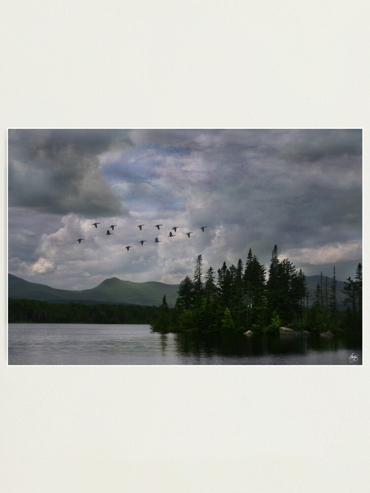 Alternate view of Painted Sky Over Jericho Lake Photographic Print