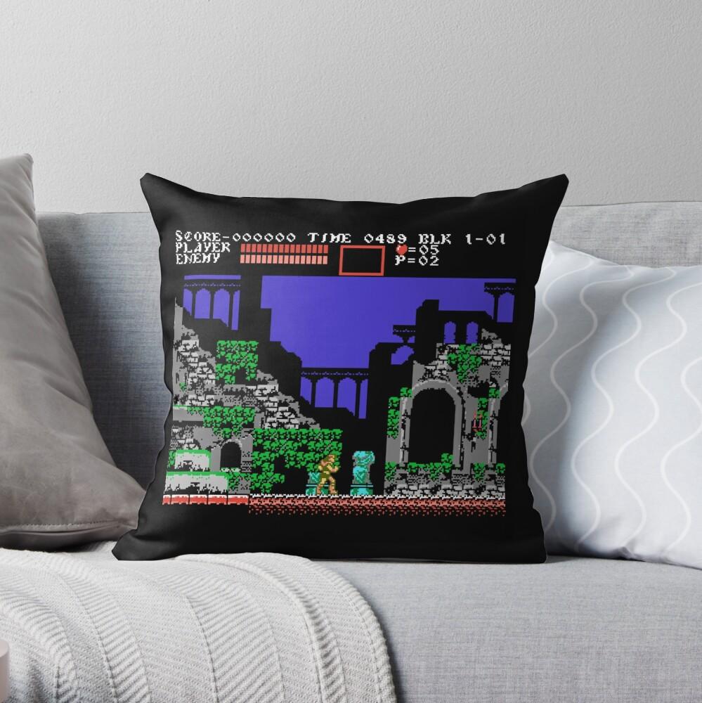 Castlevania 3 Throw Pillow