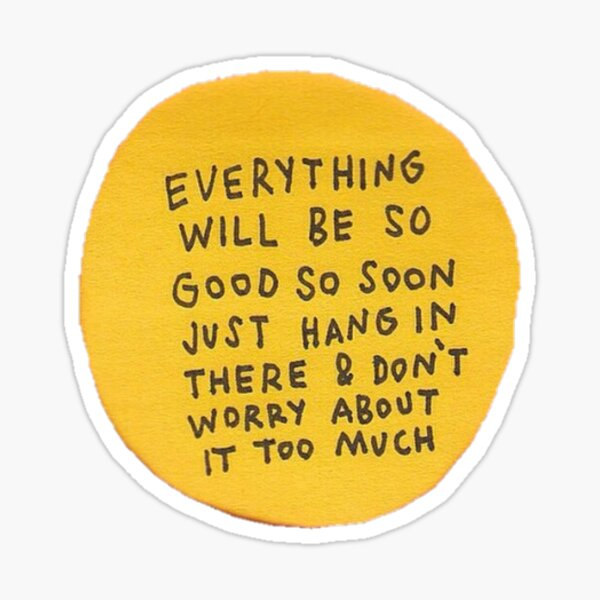 you are good enough !!! Sticker