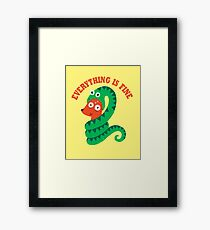 Everything Is Fine Framed Print