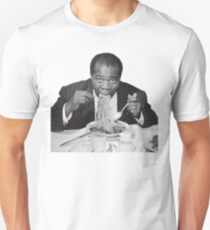 Louis Armstrong Eating Spaghetti Unisex T-Shirt