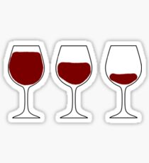 wine glasses Sticker
