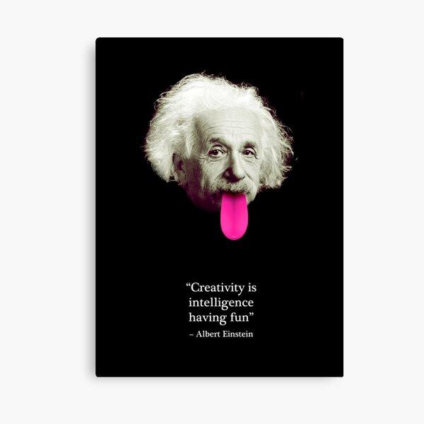Einstein Quote Canvas Print