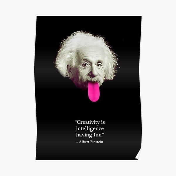 Cita de Einstein Póster