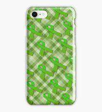 Green Awareness Ribbon iPhone Case/Skin