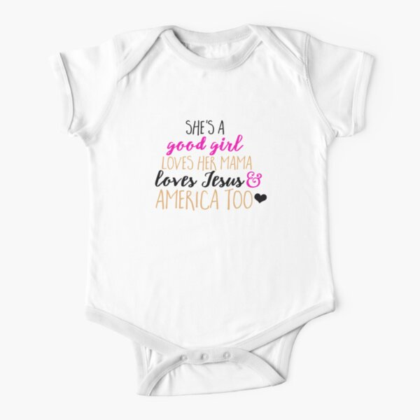 She's A Good Girl Short Sleeve Baby One-Piece
