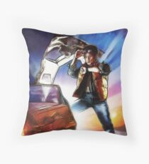 Back To The Future -Ink n Painted Throw Pillow