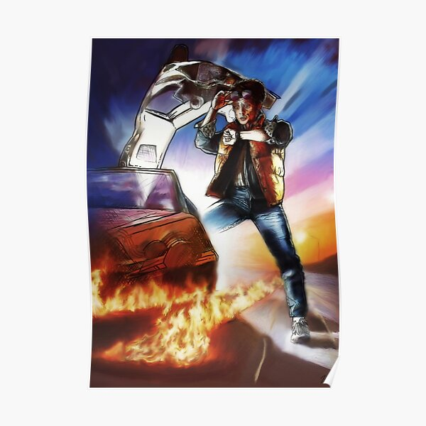 Back To The Future -Ink n Painted Poster