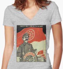 FREEDONIA PROPAGANDA Women's Fitted V-Neck T-Shirt