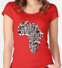 Where You Live - Africa (white) Women's Fitted Scoop T-Shirt