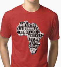 Where You Live - Africa (white) Tri-blend T-Shirt