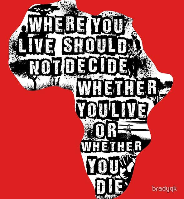 Where You Live - Africa (white) by bradyqk