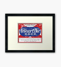 Distressed Heartshe Beer Logo Framed Print