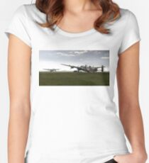 Lancasters on dispersal, colour version Women's Fitted Scoop T-Shirt