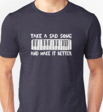 Hey Jude  White Title Unisex T-Shirt