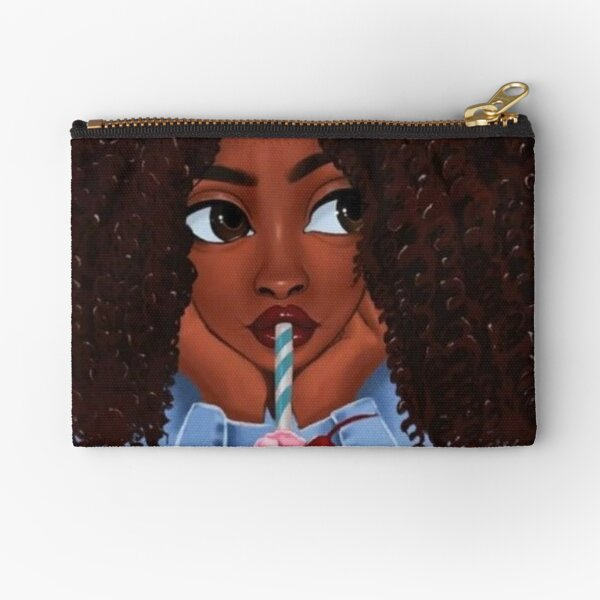 Pretty Afro girl Zipper Pouch
