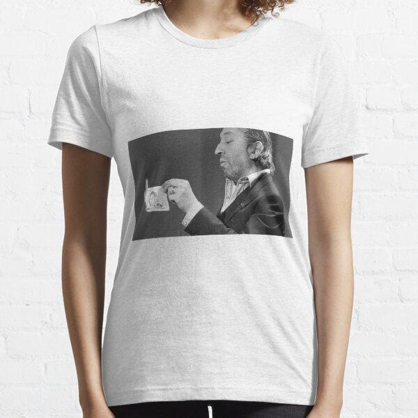 Serge Gainsbourg brûlant un billet T-shirt essentiel