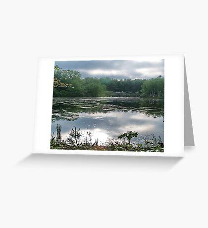 Still Water at Dawn Greeting Card