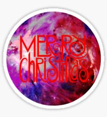 Merry Christmas nebula galaxy Sticker