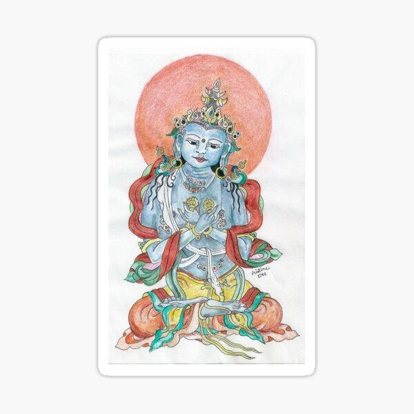 Sitting Buddha in Mindfulness Meditation Meloearth Sticker