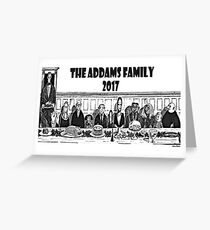 famille addams 2017 Greeting Card