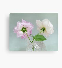 Two Vintage Roses Canvas Print