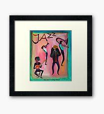 Jazz band por Diego Manuel  Framed Print