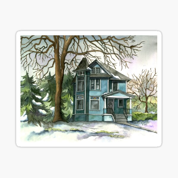 House Under the Big Tree Sticker