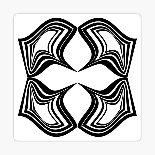 OpArt: The Square Does Not Constrain The Circle Sticker