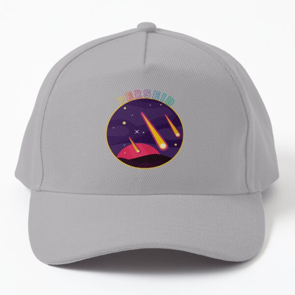 Perseid Meteor Shower 2021 - Colorful Meteors in a Purple Night Sky Baseball Cap