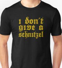 Funny I Don't Give A Schnitzel Wordplay T-Shirt