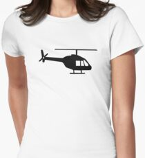 Helicopter Women's Fitted T-Shirt