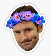 Flower Crown Tony Romo Sticker