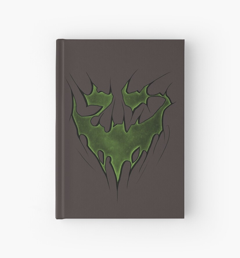 Scarecrow Fear Toxin Bat Symbol Hardcover Journals By Sgtgrinner