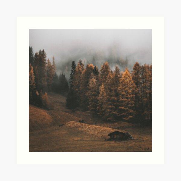 Autumn Serene Scenary Art Print