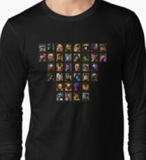 Mortal Kombat 3 Trilogy Character Select Long Sleeve T-Shirt