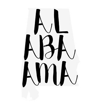 Letras del estado de Alabama de clairechesnut