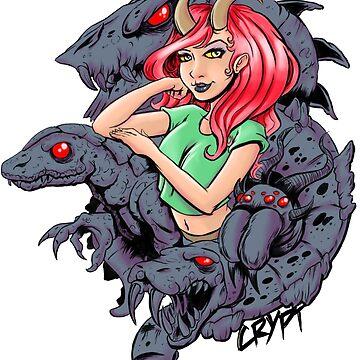 Lizard Queen Demon Girl by Richicrypt
