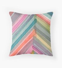 Pivot in Warm Prism Throw Pillow