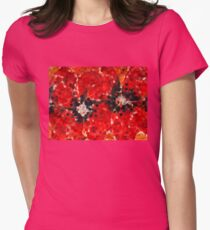 Modern Red Poppies - Sharon Cummings Womens Fitted T-Shirt