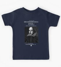 Shakespeare First Folio Frontpiece - Simple White Version Kids Tee