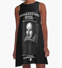 Shakespeare First Folio Frontpiece - Simple White Version A-Line Dress