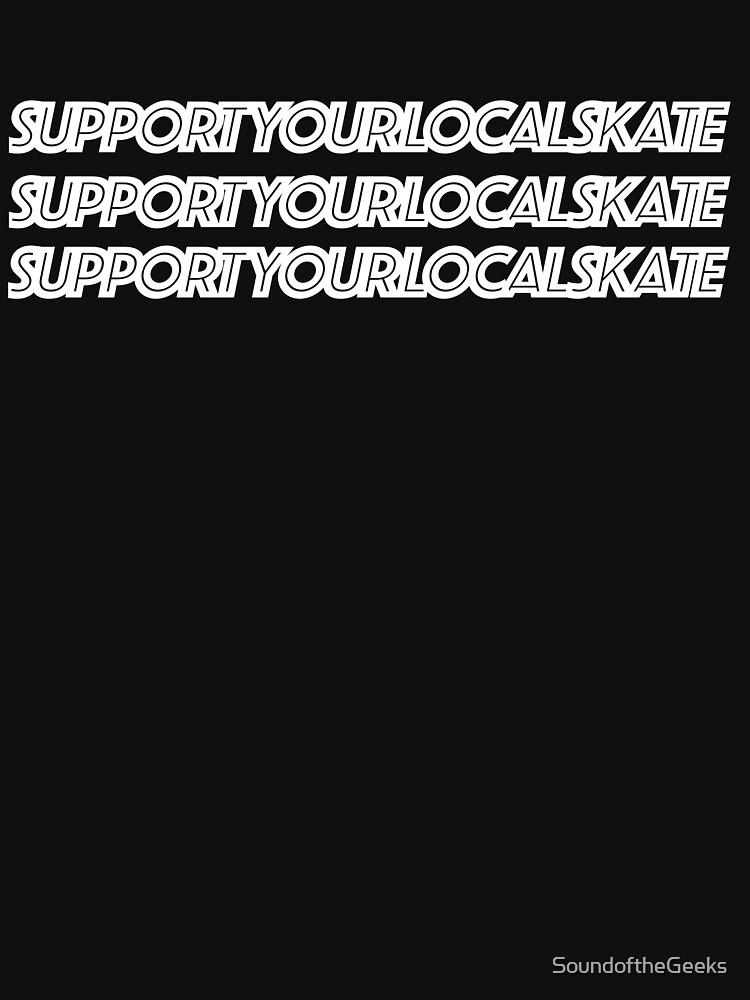 Local Skateboarding Tee   Skaters Shirt Black by SoundoftheGeeks
