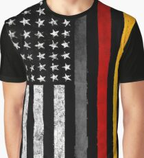 German American Flag Graphic T-Shirt