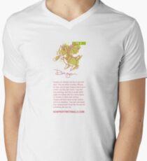 I AM DRAGON! (vertical) Mens V-Neck T-Shirt