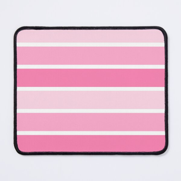 Classic Feminine Abstract Minimal Pink White Lines Stripes Pattern Mouse Pad